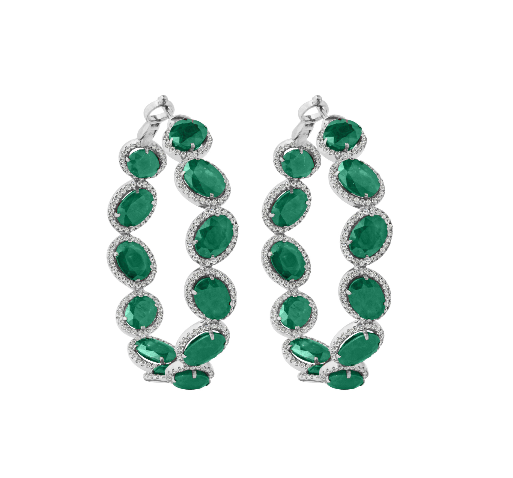 in with diamonds gold flower natural stud emerald jewelry sterling ct plated earrings silver